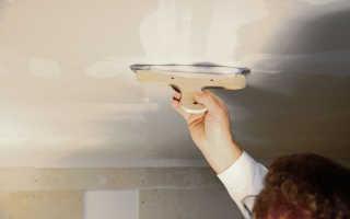 Как подготовить потолок для покраски