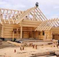 Как строят дома из бруса
