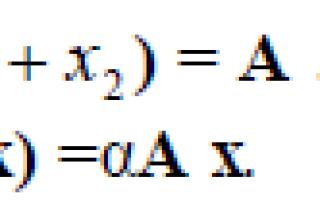 Что такое матрица линейного оператора