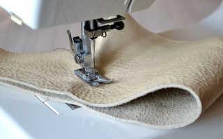 Какой швейной машинкой можно шить кожу