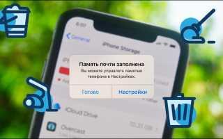 Как можно очистить систему на iPhone