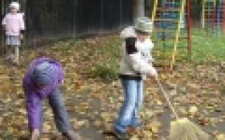 Организация работы по самообслуживанию воспитанников